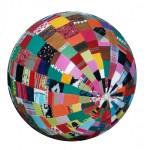 Globe, 77 rond, versleten kleding
