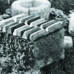 Lichaam, 40 x 65 x 25, graniet / broden brons