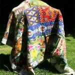 Deken, 300 x 200, hand geborduurd wol